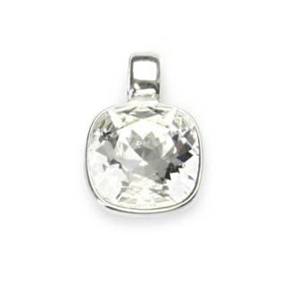 Stříbrný přívěšek s kamenem Crystals from SWAROVSKI®, barva: CRYSTAL
