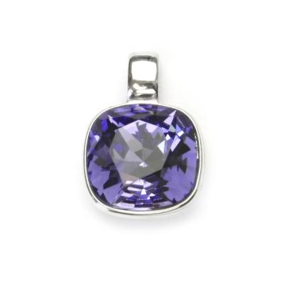 Strieborný prívesok s kameňom Crystals from SWAROVSKI®, farba: TANZANITE