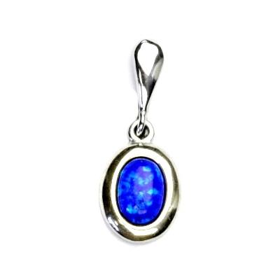 Strieborný prívesok s modrým opálom
