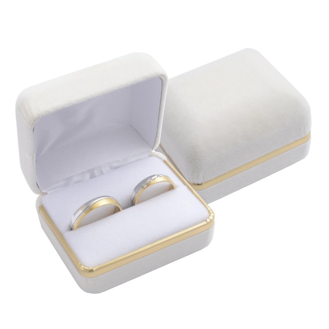 Semišová darčeková krabička na snubný prsteňe