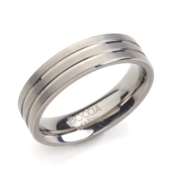 Titánový prsteň BOCCIA® 0101-02