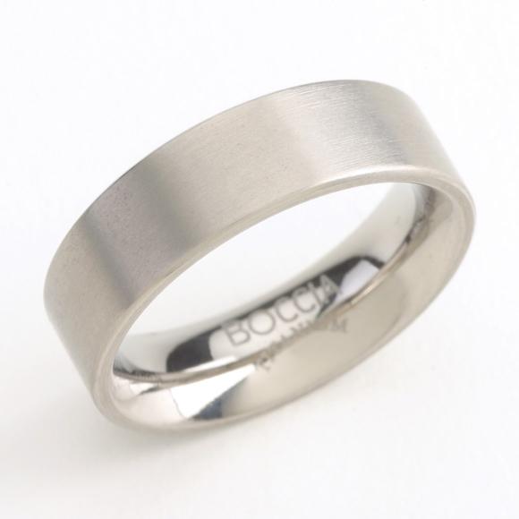 Matný titánový prsteň BOCCIA® 0101-01