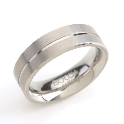 Pánsky titánový prsteň s drážkou BOCCIA® 0101-07