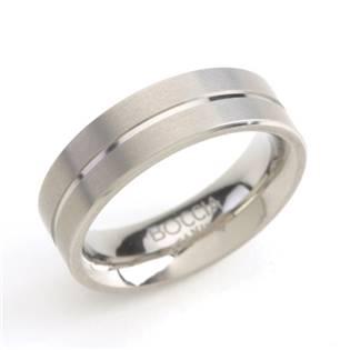 Titanový prsten s drážkou BOCCIA® 0101-07