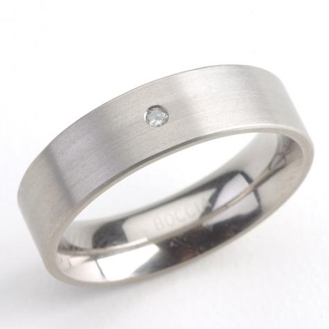 Titánový prsteň s diamantom BOCCIA® 0101-05
