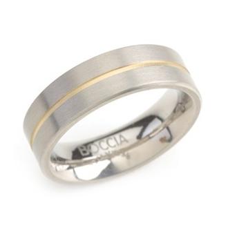Titánový prsteň BOCCIA® s pozlátenou drážkou 0101-03