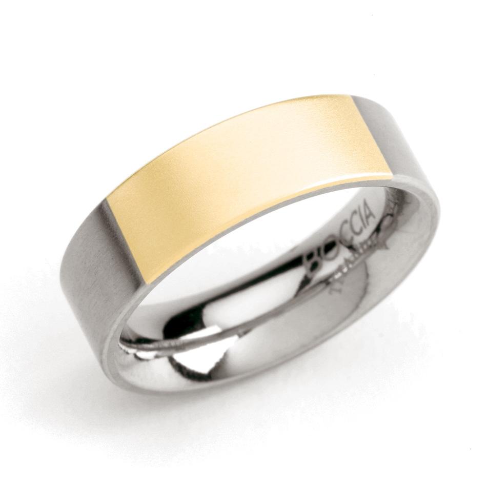 Dámsky titánový snubný prsteň so zlatením BOCCIA® 0101-04