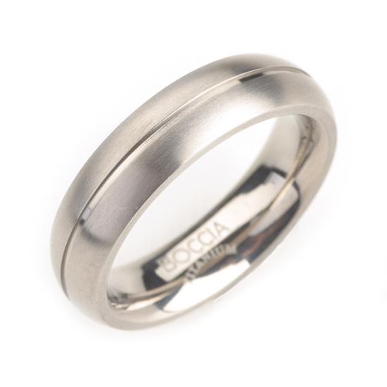 Pánsky titánový snubný prsteň BOCCIA® 0102-02