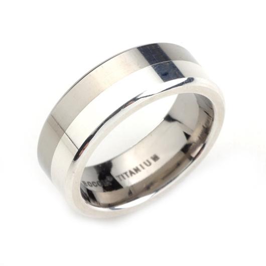 Pánsky titánový prsteň so striebrom BOCCIA® 0107-02
