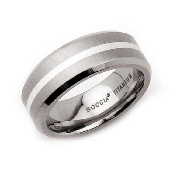 Titánový prsteň so striebrom BOCCIA® 0108-02