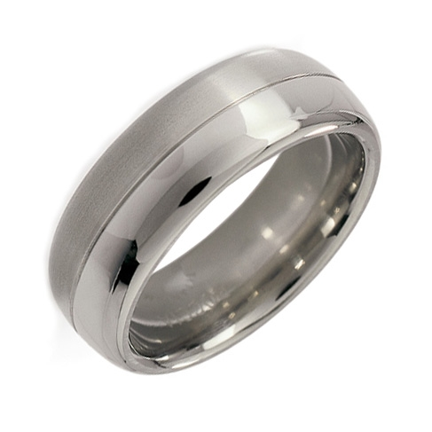 Pánsky titánový snubný prsteň BOCCIA® 0109-01