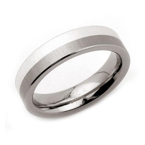 Pánsky titánový prsteň so striebrom BOCCIA® 0115-01