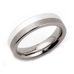Titanový prsten se stříbrem BOCCIA® 0115-01
