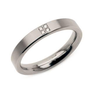Dámský titanový prsten BOCCIA® s diamanty 0120-01