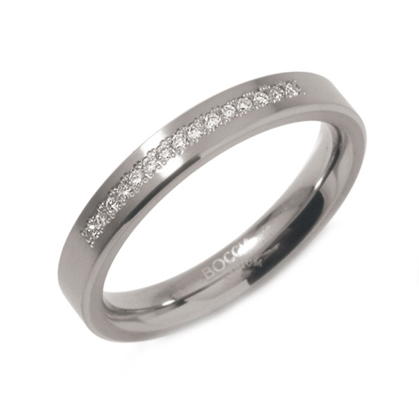 Titanový prsten BOCCIA® s diamanty 0120-04