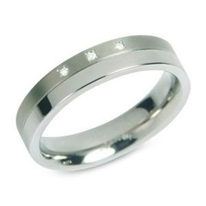 Dámsky titánový prsteň BOCCIA® s diamantmi 0129-03