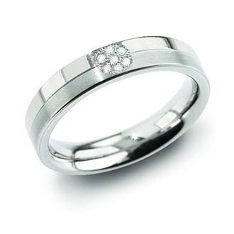 Dámsky titánový prsteň BOCCIA® s diamantmi 0129-05