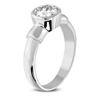 Ocelový prsten se zirkonem OPR1611
