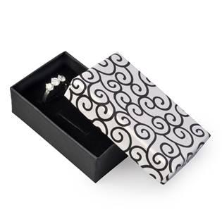 Dárková krabička na soupravu šperků - bílá s oranemty