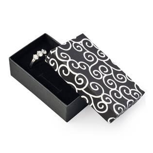 Dárková krabička na soupravu šperků - černá s oranemty