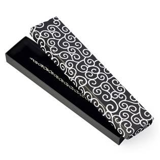 KR0198-K Dárková krabička na náramek, černá s ornamenty
