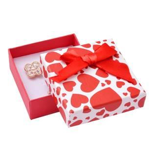 Dárková krabička na soupravu šperků se srdíčky