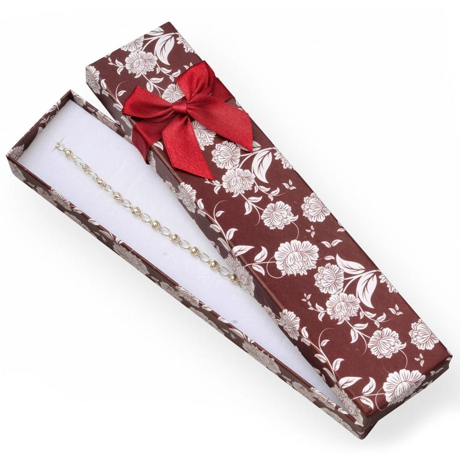 Bordó / biela darčeková krabička na náramok