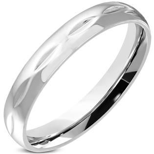 Dámský ocelový snubní prsten OPR0106