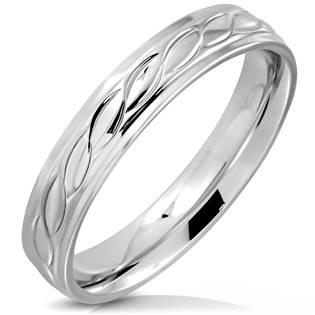 Dámský ocelový snubní prsten OPR0103