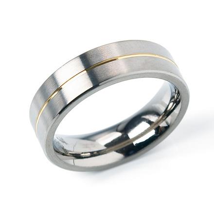 Pánsky titánový snubný prsteň BOCCIA® 0101-21