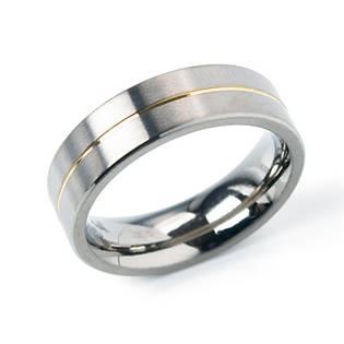 Titanový prsten se zlacenou linkou BOCCIA® 0101-21