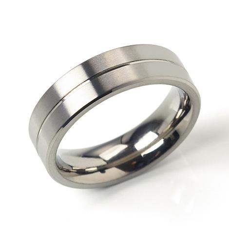 Titánový prsteň s drážkou BOCCIA® 0101-22
