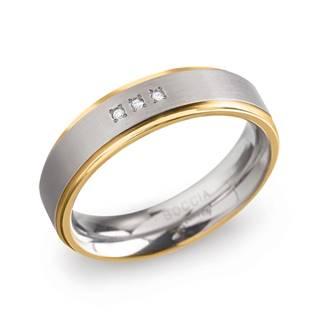 Dámský Titanový snubní prsten BOCCIA® s diamanty 0134-04