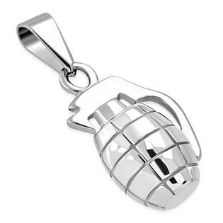 Ocelový přívěšek - ruční granát