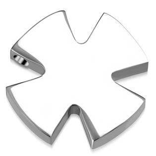 Ocelový přívěšek - maltézský kříž provlékací