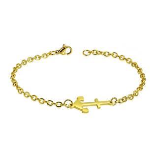 OPA1383 Zlacený ocelový náramek s kotvou