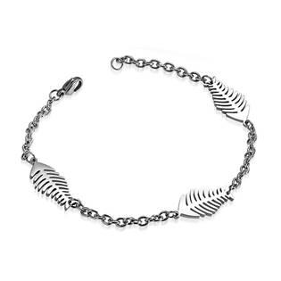 OPA1418 Dámský ocelový náramek - rybí kostičky