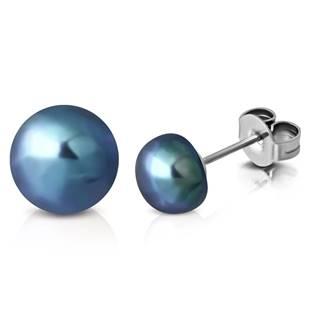 Ocelové náušnice s perličkami OPN1468-ST