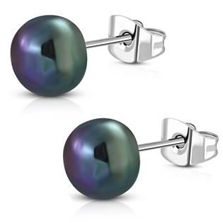 Ocelové náušnice s perličkami OPN1523-ST