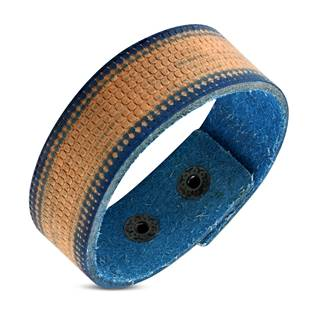 Modrohnědý pánský kožený náramek