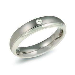 Dámský titanový snubní prsten BOCCIA® s diamantem 0130-11