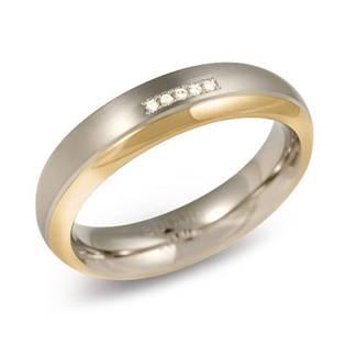 Dámský titanový snubní prsten BOCCIA® s diamantem 0130-10