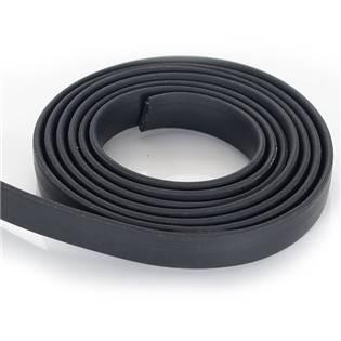 Plochá kaučuková šňůra černá, 1 m
