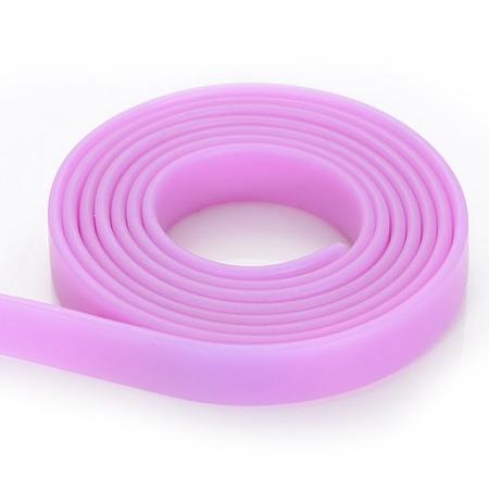 Plochá kaučuková šnúra ružová, hr. 2 mm