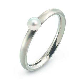 Titanový prsten s perlou 0145-01