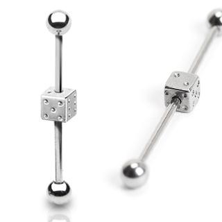 Industrial piercing - hracia kocka