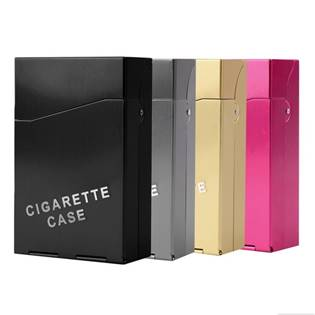 Kovové pouzdro na cigarety vystřelovací