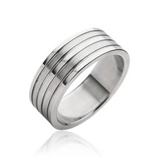 Ocelový prsten pánský