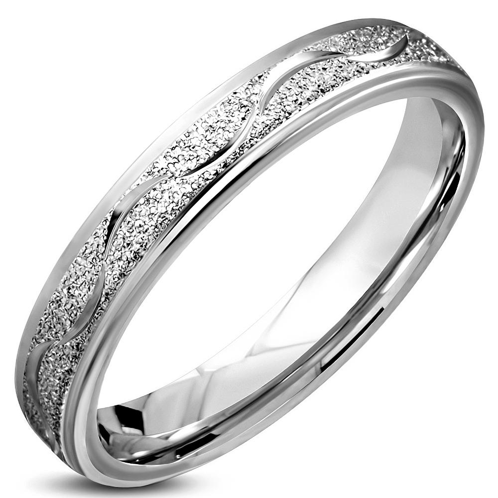 Oceľový snubný prsteň, šírka 4,5 mm, veľ. 57