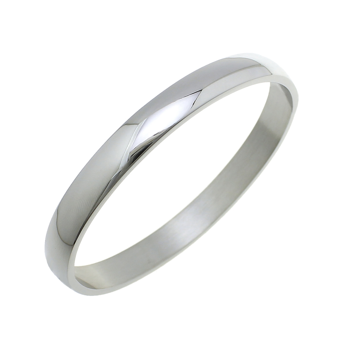 Ocelový náramek kruh velký, obvod 21 cm, šíře 10 mm